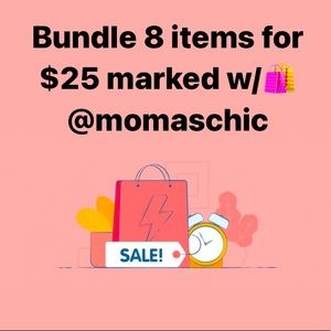 Bundle 8 for $25 all items marked w/🛍